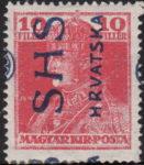 SHS Croatia King Charles overprint error