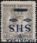 SHS Hrvatska Zita inverted overprint error