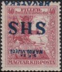 SHS Hrvatska inverted overprint on war charity stamp
