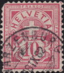 Swiss Cross and Numeral postage stamp border marks 10 cents right