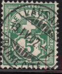Switzerland Cross and Numeral postage stamp flaw Bottom right corner angled