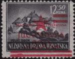 Yugoslavia 1945 Zagreb postage stamp overprint error