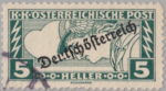 German-Austria 1919 Mercury stamp error