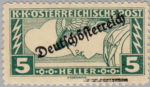 German-Austria 1919 special delivery stamp printer's block