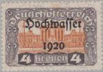 German-Austria postage stamp flaw: Engraver's name missing