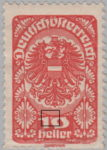 German-Austria 1919 postage stamp flaw: White dot between numeral 1 and zero in denomination