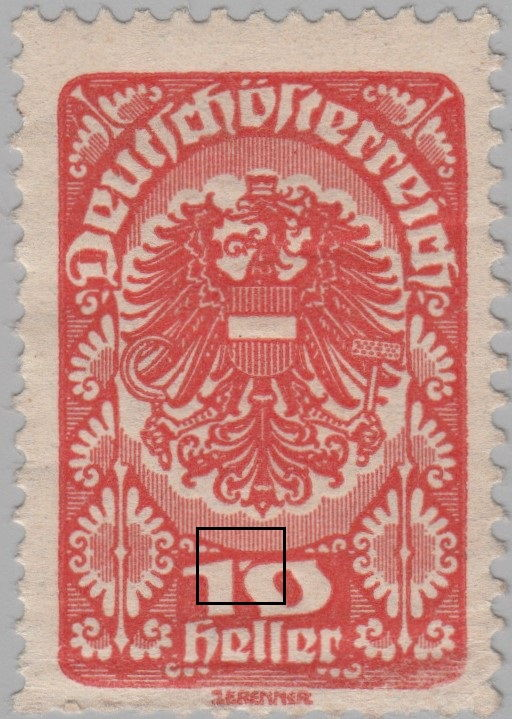 Republic Of German Austria Varieties And Types Of Postage