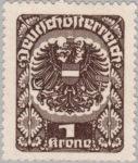 German-Austria Mercury newspaper stamp flaw: