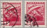 Austria 1934 35 groschen postage stamp error