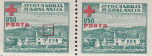 Yugoslavia Red Cross stamp error: