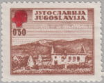 Yugoslavia Red Cross stamp error: color spill