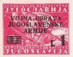Yugoslavia Istria Slovene Littoral 1 lira stamp type III