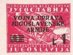 Yugoslavia Istria Slovene Littoral 1 lira stamp type IV