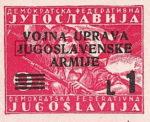 Yugoslavia Istria Slovene Littoral 1 lira stamp type VII