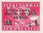 Yugoslavia Istria Slovene Littoral 1 lira stamp type X