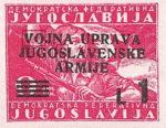 Yugoslavia Istria Slovene Littoral 1 lira stamp type XII