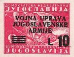 Yugoslavia Istria Slovene Littoral 10 lira stamp