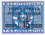 Yugoslavia Istria Slovene Littoral 15 lira stamp