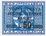 Yugoslavia Istria Slovene Littoral 50 lira stamp