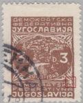 Yugoslavia 1945 3 din postage stamp error