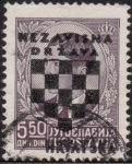 Croatia 1941 postage stamp dot between n and a in nezavisna