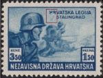 Croatia postage stamp error legion on Russian front