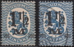 Finland 1921 overprint types on postage stamps