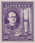 Slovakia 1939 Jozef Murgas postage stamp error dot on forehead