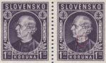 Slovakia 1942 Andrej Hlinka postage stamp error spot on neck
