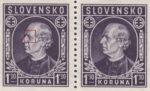 Slovakia 1942 Andrej Hlinka postage stamp error spot above eyebrow
