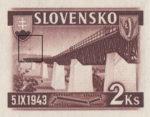 Slovakia 1943 railway stamp error