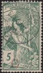Switzerland UPU 5 rappen postage stamp flaw
