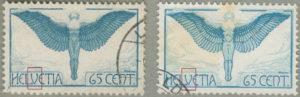 Switzerland 1924 airmail stamp types