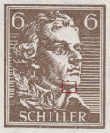 Germany, Thuringia National Theater Souvenir sheet Type 4: white dot on Schiller's chin