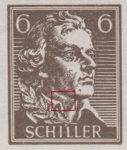 Germany, Thuringia National Theater Souvenir sheet type 12: dot on Schiller's neck