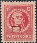 Germany Thuringia Schiller postage stamp Type I
