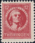 Germany Thuringia Schiller postage stamp Type II