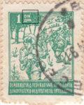 Yugoslavia 1945 1 din postage stamp error dot above DIN
