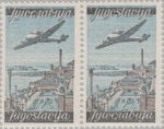 Yugoslavia 1947 2 din airmail stamp setting 2