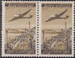 Yugoslavia 1947 airmail stamp 10 din engraver Grujic sign