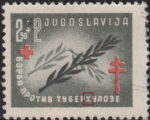 Yugoslavia 1948 postage stamp error tuberhuloze plate flaw