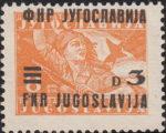 Yugoslavia 1949 partisan woman overprint FNR JUGOSLAVIJA error