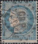France Ceres 25 centimes postage stamp error shifed perforation
