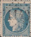 France Ceres 25 centimes postage stamp error perforation shift