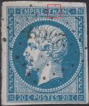 France Napoleon III 20 centimes postage stamp error Letter R in FRANC broken on top