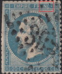 France Napoleon III 20 centimes postage stamp error Thin line between letters N and C in FRANC touching the lower frame