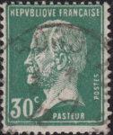 France Pasteur postage stamp error green color on letter R of REPVBLIQVE