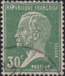 France Pasteur postage stamp error Letter P in REPVBLIQVE white