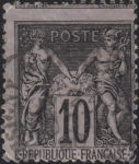 France Ceres 10 centimes postage stamp error perforation shift