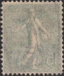 France Sower 15 centimes postage stamp offset error